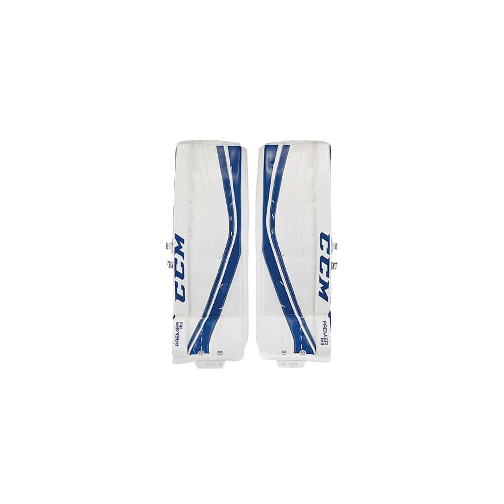 CCM Premier R1.9 Senior Goalie Leg Pads Blue and White