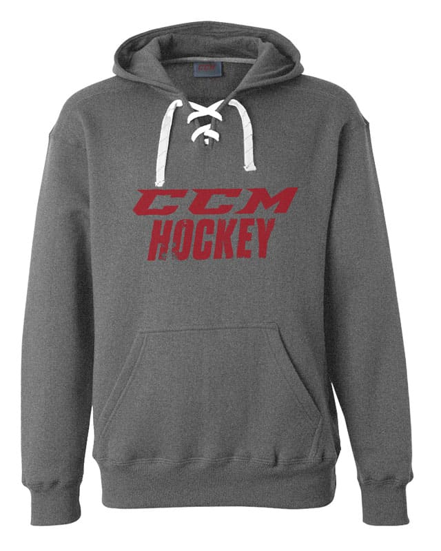 CCM Hooded Sweatshirt - Gray - Red Logo