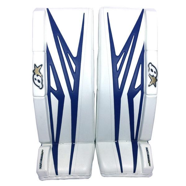 Brians G-Netik 8.0 Senior Goalie Leg Pads in Blue