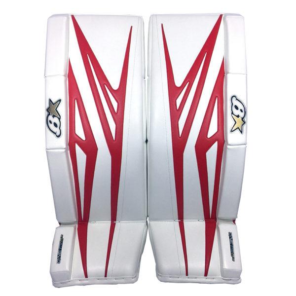 Brians G-Netik 8.0 Senior Goalie Leg Pads in Red