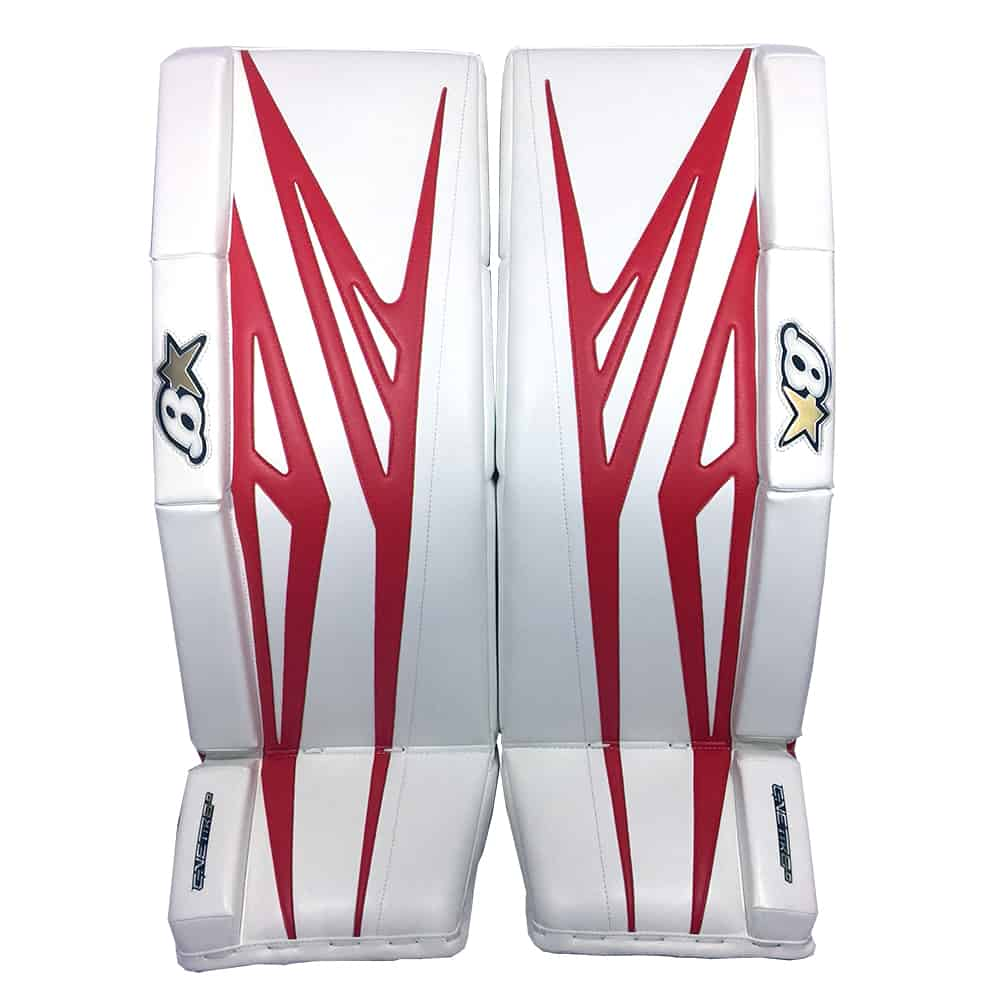 Brians G-Netik 8.0 Senior Goalie Leg Pads in Red