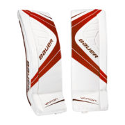 bauer-ice-hockey-goalie-leg-pads-vapor-x900-red-front