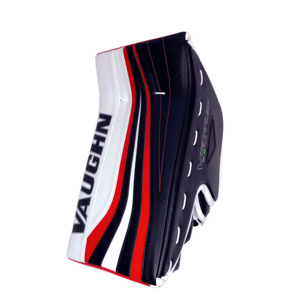 Vaughn Ventus SLR Pro Senior Goalie Blocker in Black, Red and White