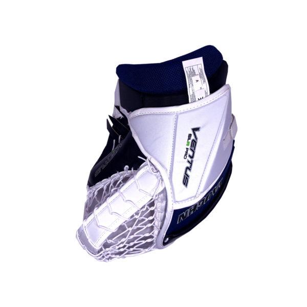 Vaughn Ventus SLR Pro Senior Goalie Glove in Black, Blue and White on the back