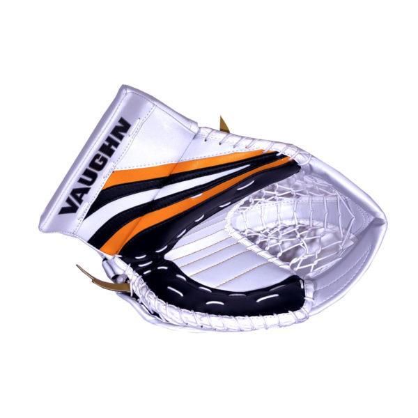 Vaughn Ventus SLR Pro Senior Goalie Glove in Black, Gold and White