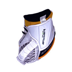 Vaughn Ventus SLR Pro Senior Goalie Glove in Black, Gold and White on the back