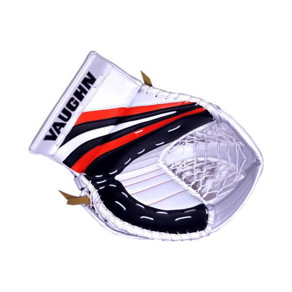 Vaughn Ventus SLR Pro Senior Goalie Glove in Black, Orange and White