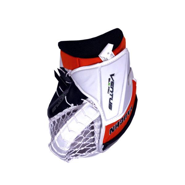 Vaughn Ventus SLR Pro Senior Goalie Glove in Black, Orange and White on the back