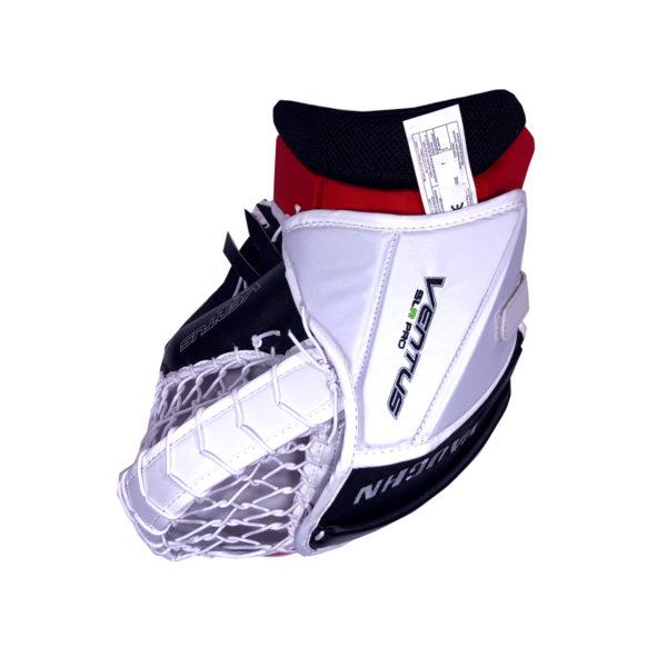 Vaughn Ventus SLR Pro Senior Goalie Glove in Black, Red and White on the back