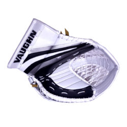 Vaughn Ventus SLR Pro Senior Goalie Glove in Black, Silver and White