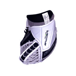 Vaughn Ventus SLR Pro Senior Goalie Glove in Black, Silver and White on the back