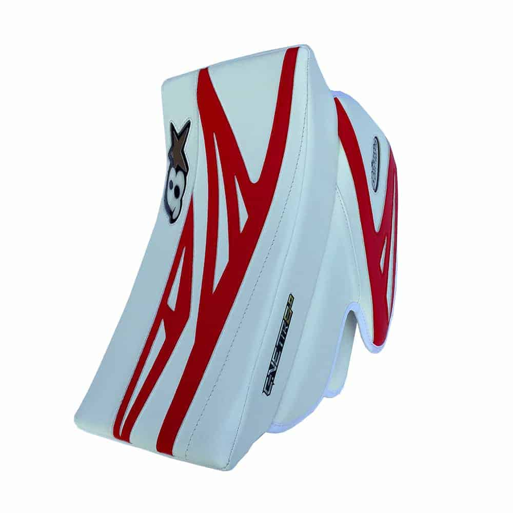 Brians G-Netik 8.0 Junior Goalie Blocker Red