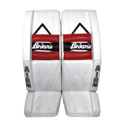 Brians Alite Senior Goalie Leg Pads Black Red and White