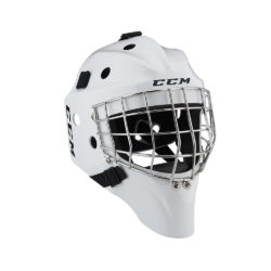 CCM 1.5 Junior Certified Straight Bar Goalie Mask White