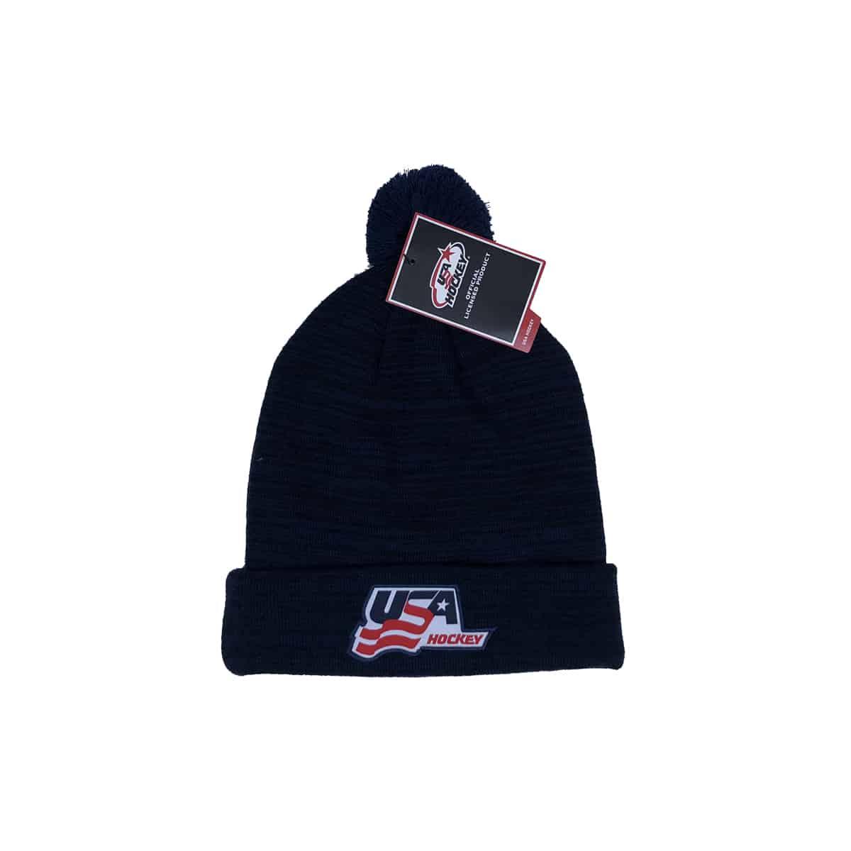 USA Hockey Nike Futura Pom Beanie