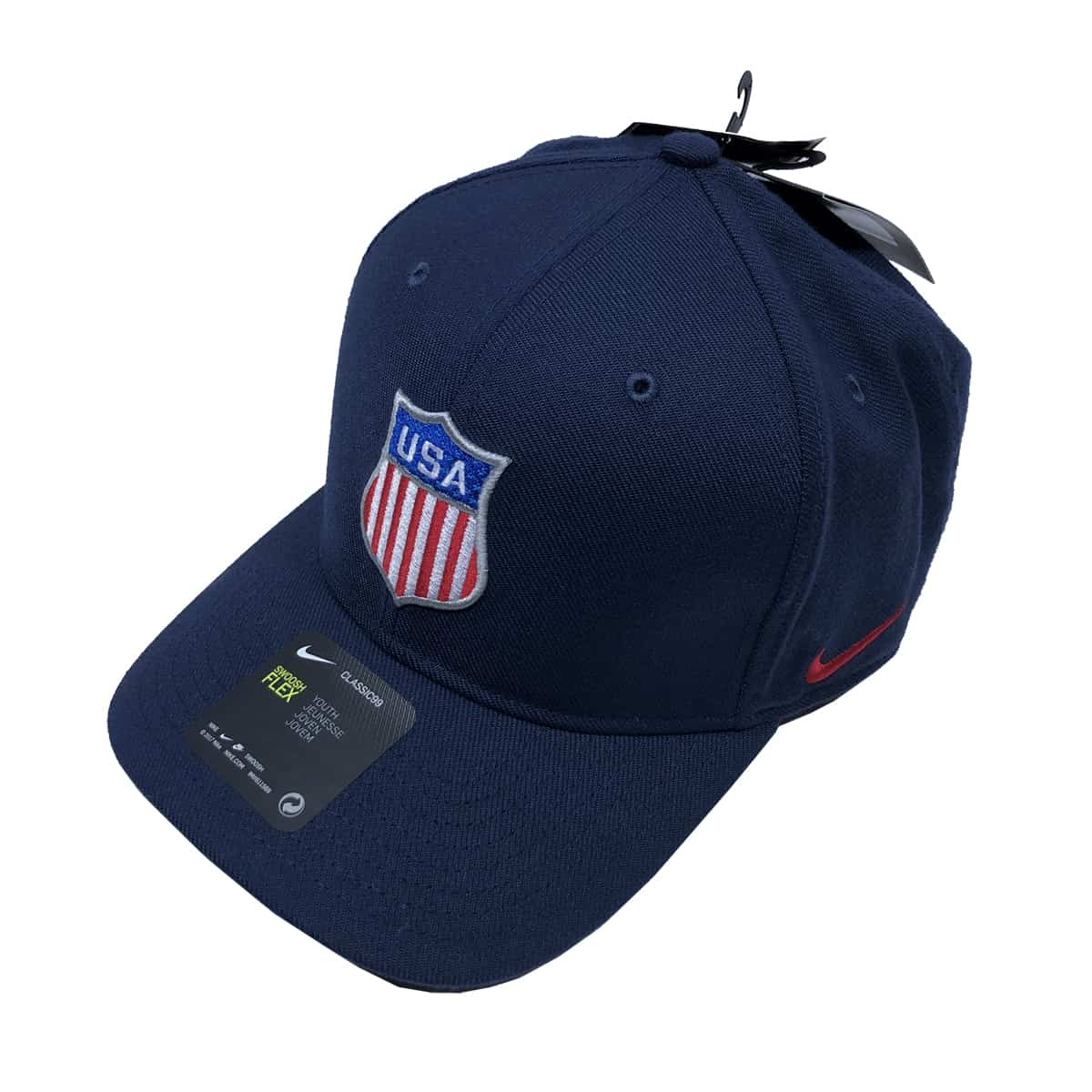 USA Hockey Nike Classic 99 DRI-FIT Flex Shield Hat in Navy (Front)