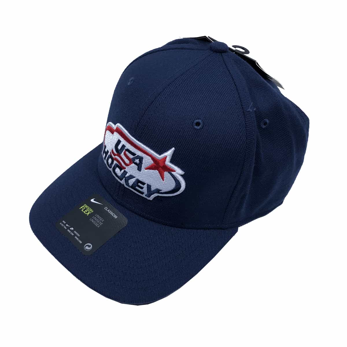 USA Hockey Nike Classic 99 DRI-FIT Flex Hat in Navy (Front)