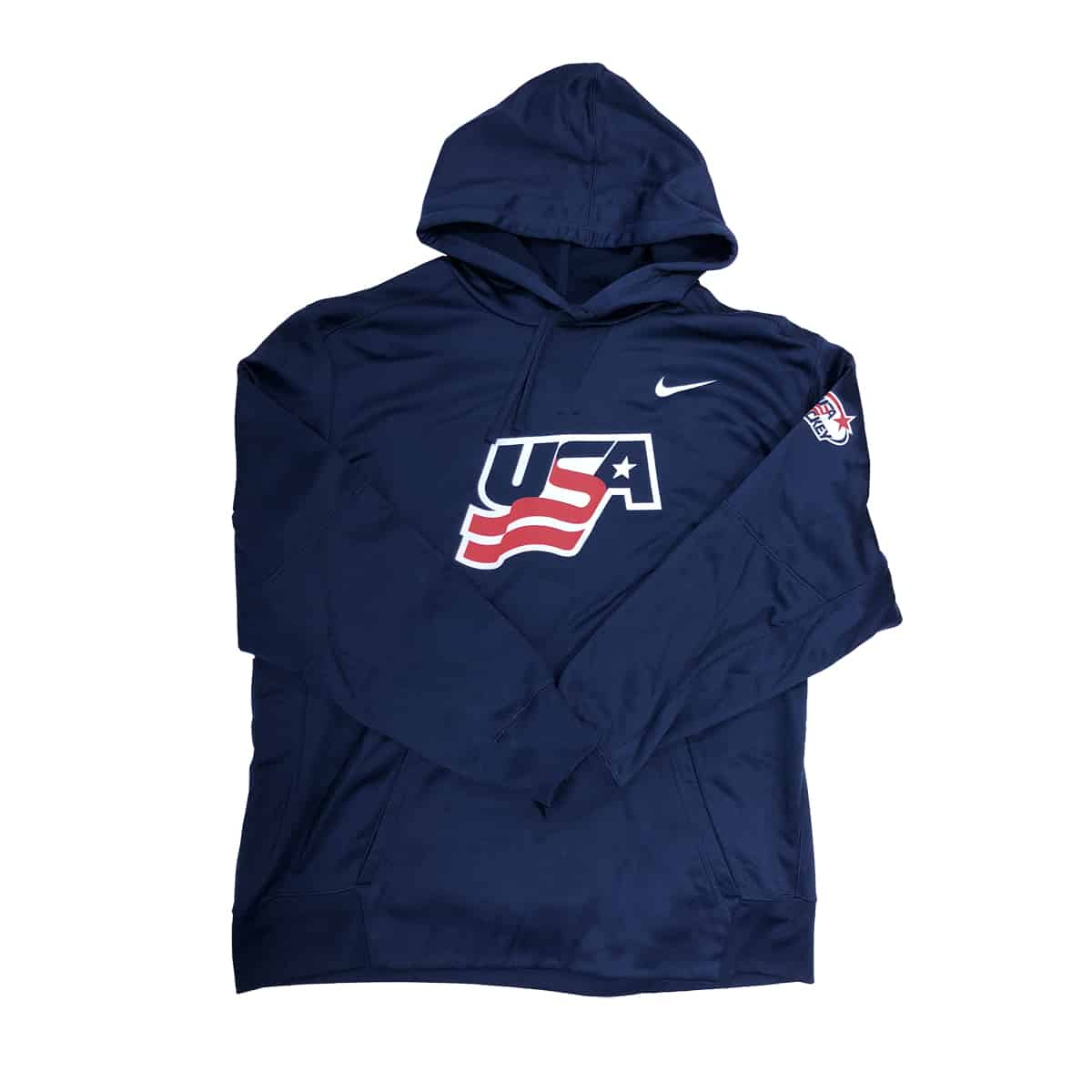 Nike USA Hockey Therma Hoodie in Navy
