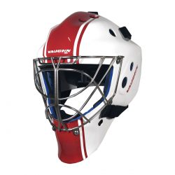 Vaughn VM 2300 Senior Goalie Mask in Red and White