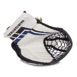 Vaughn Velocity VE8 Junior Goalie Glove in White Black and Blue