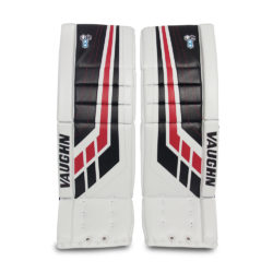 Vaughn Velocity VE8 Junior Leg Pads in White, Black and Red