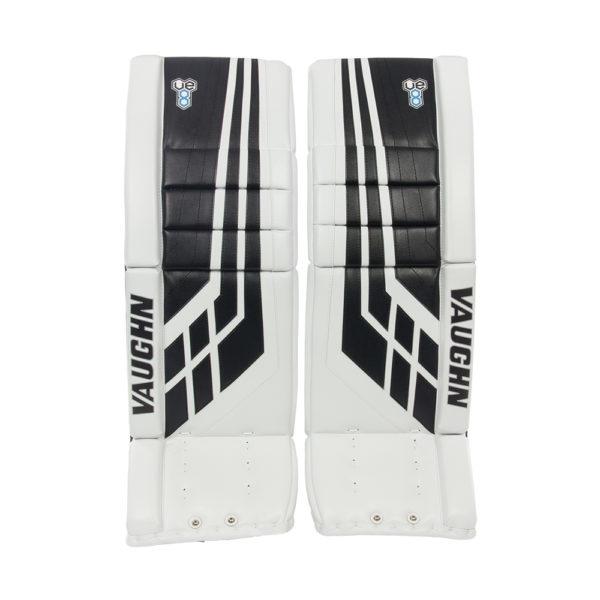 Vaughn Velocity VE8 Pro Senior Leg Pads Black and White