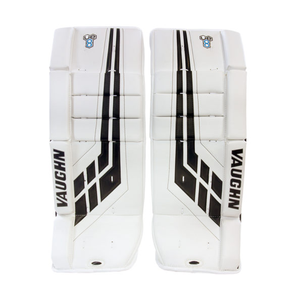 Vaughn Velocity VE8 Youth Leg Pads in White and Black