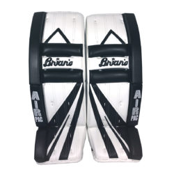 Brians Alite Intermediate Goalie Pads in Black and White