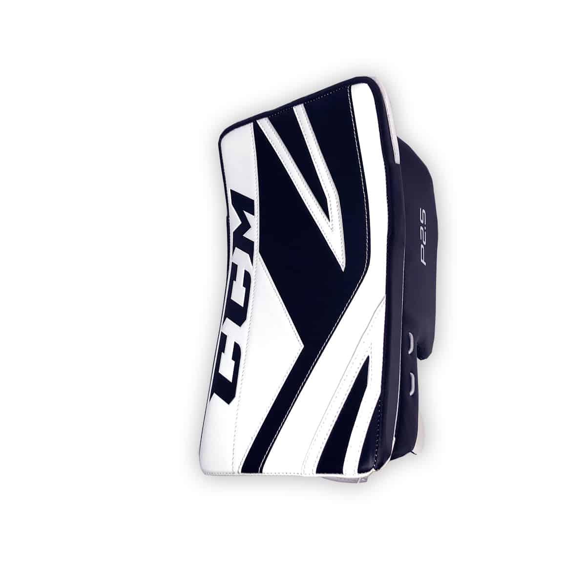 728bcf67e81 CCM Premier P2.5 Junior Goalie Blocker in Black and White