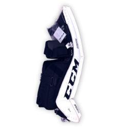 CCM Premier P2.5 Senior Goalie Pads in black and white