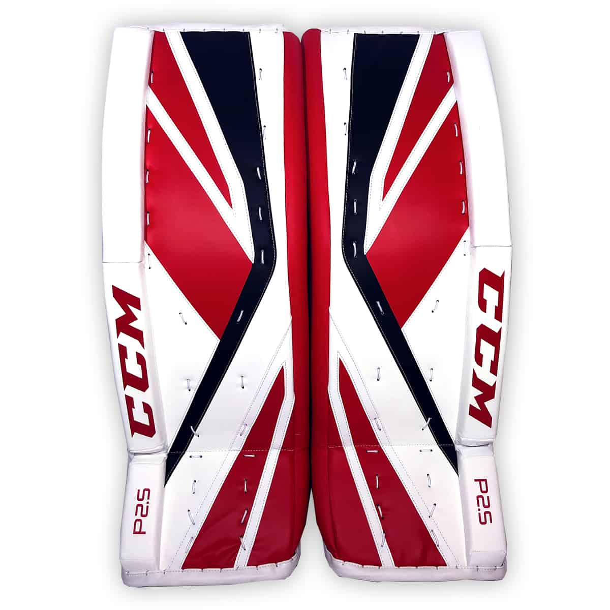 c1d538446fc CCM Premier P2.5 Senior Goalie Pads in Chicago colors