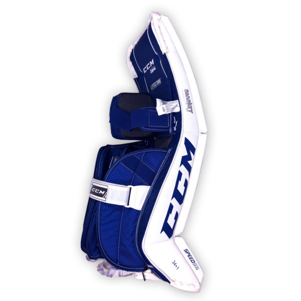 CCM Premier P2.5 Senior Goalie Pads in Toronto colors on back