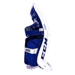 CCM Premier P2.9 Intermediate Goalie Pads in Blue and White on Back