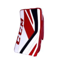 CCM Premier P2.9 Senior Goalie Blocker in Red, Black and White