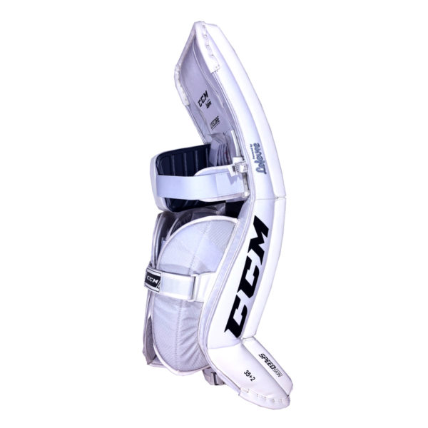 CCM Premier P2.9 Senior Goalie Leg Pad All White Back
