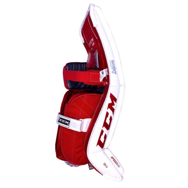 CCM Premier P2.9 Senior Goalie Leg Pad Black, Red and White