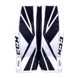 CCM Premier P2.9 Senior Goalie Leg Pad Black and White