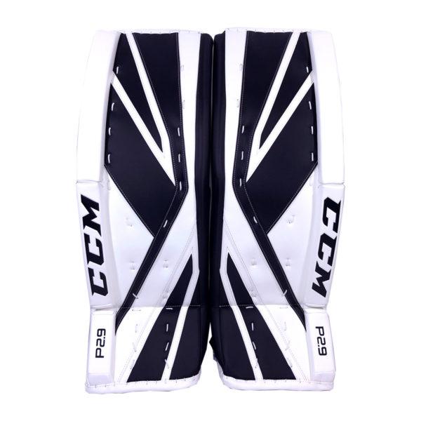 CCM Premier P2.9 Senior Goalie Leg Pad Black and White