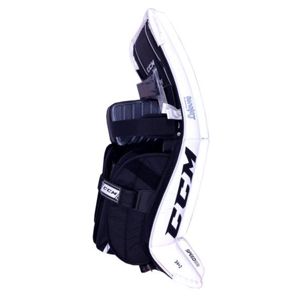 CCM Premier P2.9 Senior Goalie Leg Pad Black and White Back