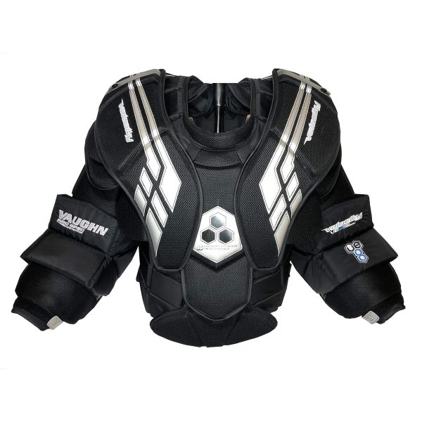 Vaughn Velocity VE8 Pro Carbon Chest Protector in Black and Silver