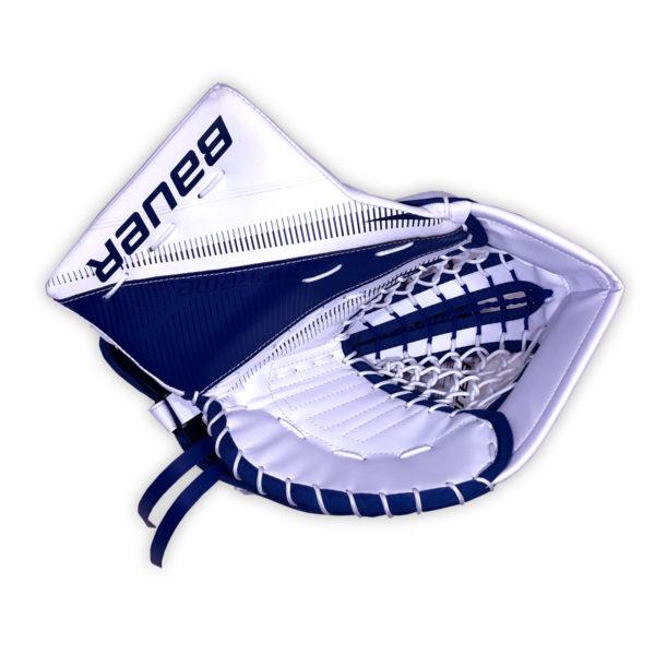 Bauer Supreme S27 Senior Goalie Catch Glove in Blue and White