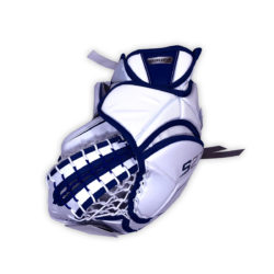 Bauer Supreme S27 Senior Goalie Catch Glove in Blue and White on Back