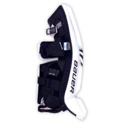 Bauer Supreme S27 Senior Goalie Leg Pads in Black and White on Back
