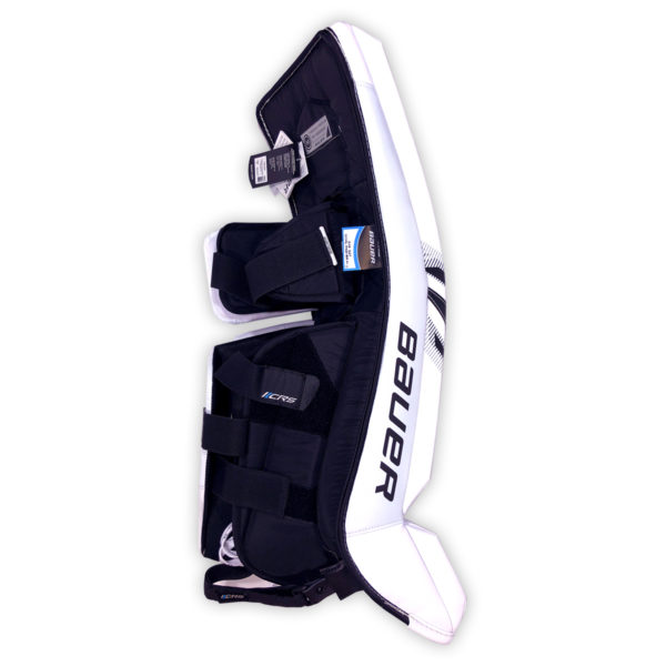 Bauer Supreme S27 Senior Goalie Leg Pads in Black and White on Back