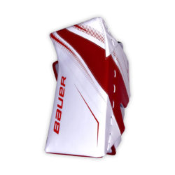 Bauer Supreme S29 Intermediate Goalie Blocker in Red and White