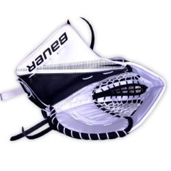 Bauer Supreme S29 Intermediate Goalie Catch Glove in Black and White