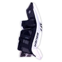 Bauer Supreme S29 Senior Goalie Leg Pads in Black and White on Back