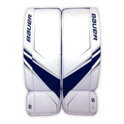 Bauer Supreme S29 Senior Goalie Leg Pads in Blue and White