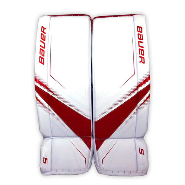 Bauer Supreme S29 Senior Goalie Leg Pads in Red and White