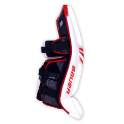 Bauer Supreme S29 Senior Goalie Leg Pads in Red and White on Back
